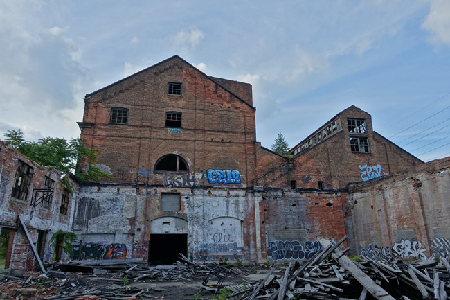 Abandoned buildings of The Cleveland Railway Co and Westinghouse Electric