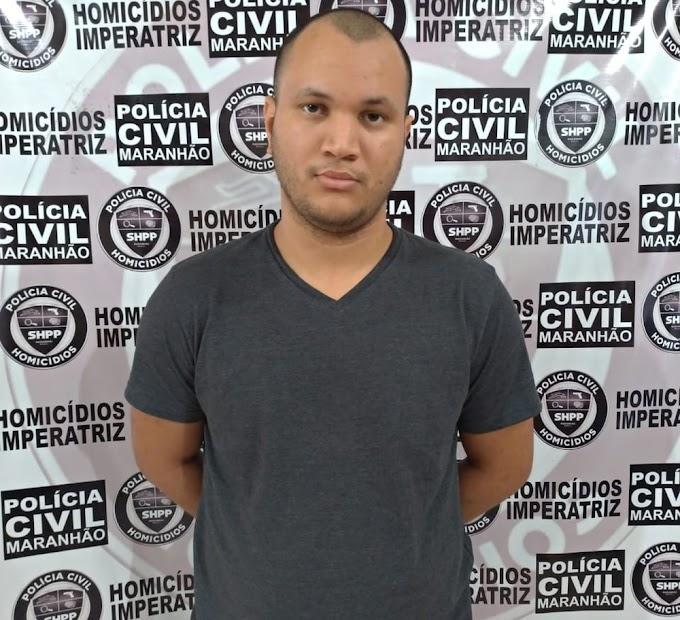 Preso suspeito de matar universitária e deixar corpo em rodovia de Imperatriz, no Maranhão.