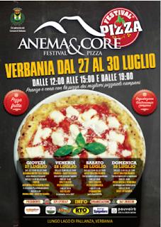 """Festival della Pizza """"Anema & Core"""" 27-28-29-30 luglio Verbania"""