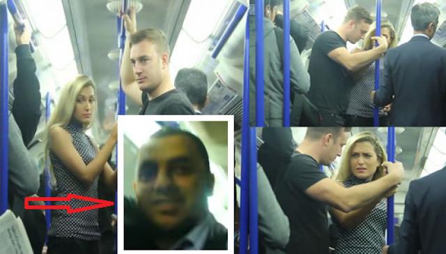 كيف تصرف راكب عندما شاهد امرأة تتعرض للتحر ش في حافلة بـ لندن اغلب الواقفين اختاروا عدم التدخل إلا هذا الراكب... هذا ما فعله