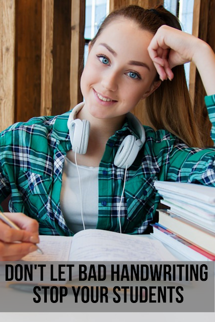 Don't let bad handwriting stop your students. You can develop their fine motor skills and help them build muscle memory with repeated practice. #handwriting #writing #writingskills #3rdgrade #4thgrade #5thgrade #6thgrade #7thgrade #8thgrade