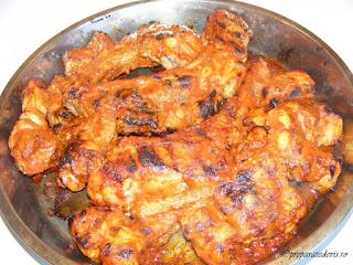 Coaste de porc cu sos barbeque retete culinare,
