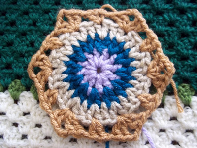 Hexagon Crochet Motif