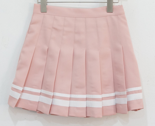 Striped Accent Pleated Skort