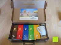 Koffer öffnen: Coffeepolitan Premium Geschenkset - Kaffee aus 5 Kontinenten mit Zubereitungsset - grob gemahlen 5 x 9 Portionen (5 x 9 x 7g); ideal auch als Geburtstagsgeschenk oder Probierset