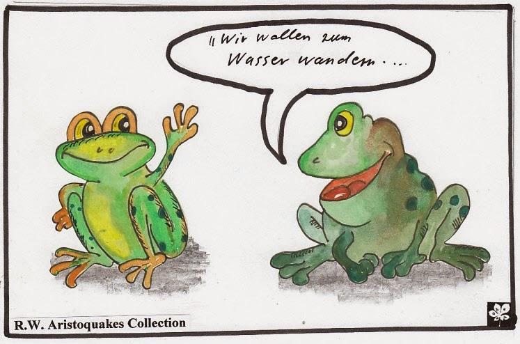 ein frosch sprach zu dem anderen
