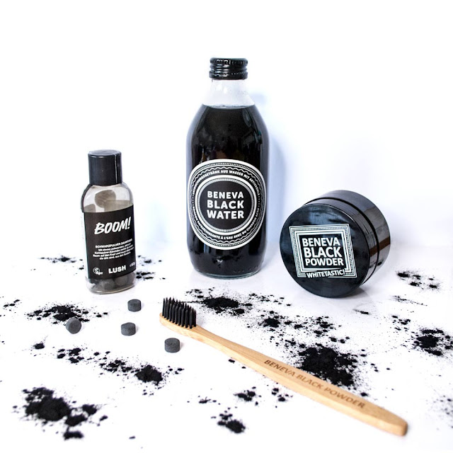 Charcoal, activated, black, beneva, cleanse, schweiz, blog, yunaban, vegan, review, schwarzes Wasser, wasser, whitening
