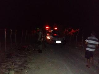 Jovem é morto com tiros no rosto em estrada de Nova Floresta nesse domingo (14)