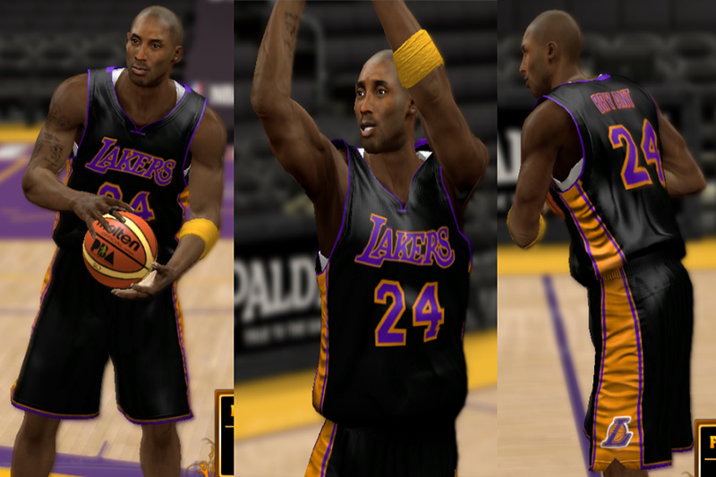 3226eb149ba NBA 2K13 Lakers  Hollywood Nights  Black Jersey v3 - NBA2K.ORG