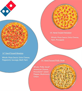 Dominos Pizza Menu Prices May 18 - June 15, 2017