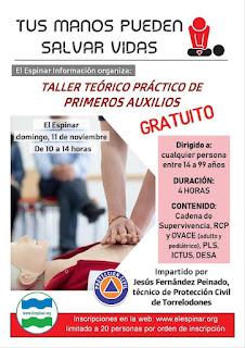 I TALLER TEÓRICO PRÁCTICO DE PRIMEROS AUXILIOS