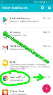 riwayat notifikasi aplikasi recent notification