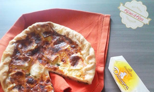 Torta salata con formaggio di capra e rucola