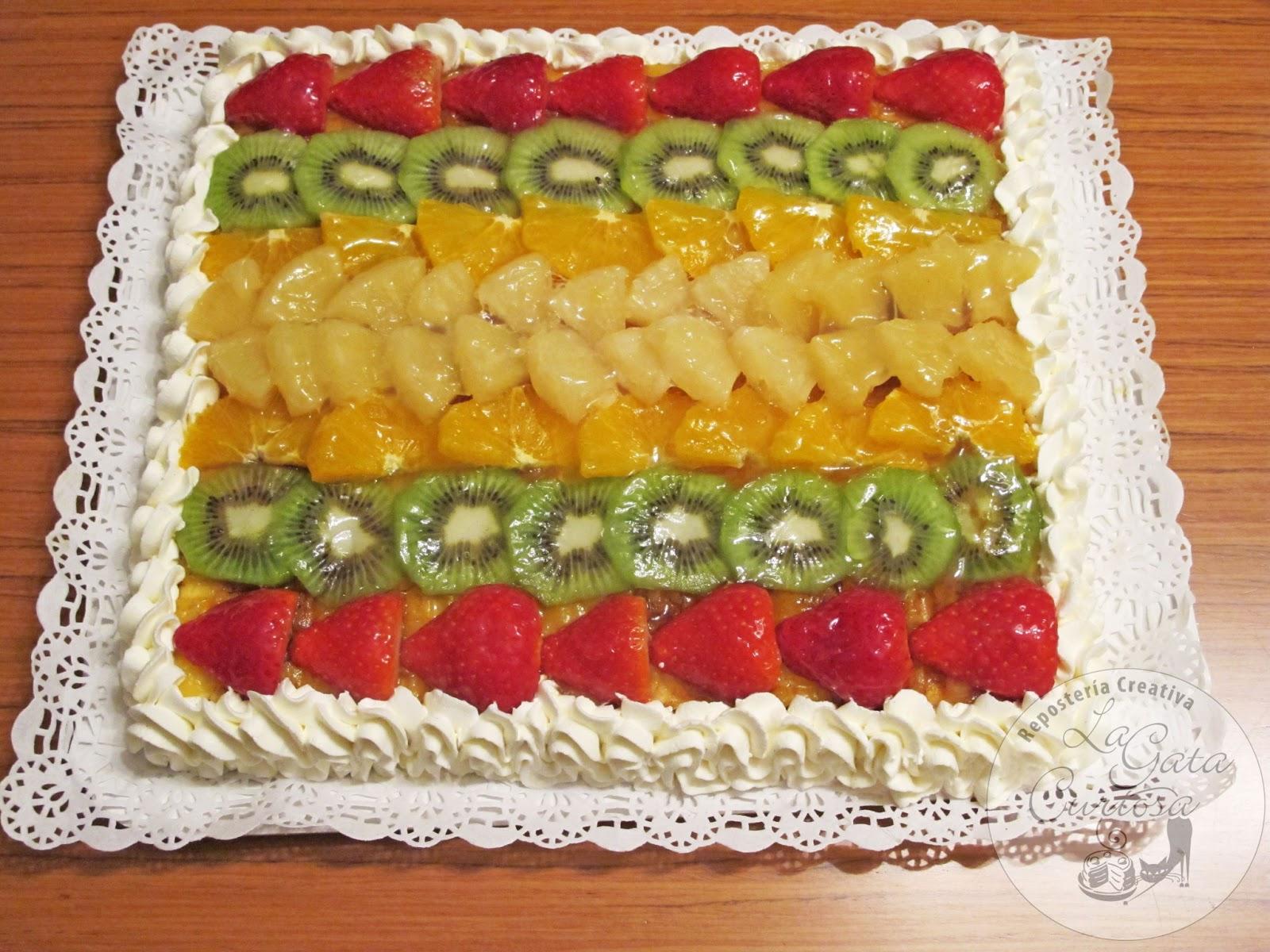 La Gata Curiosa Tarta De Crema Pastelera Yema Y Fruta Fresca
