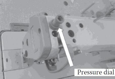 pressure dial sewing machine