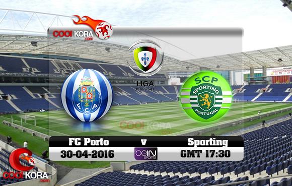 مشاهدة مباراة بورتو وسبورتينغ لشبونة اليوم 30-4-2016 في الدوري البرتغالي