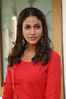 Actress Lavanya Tripathi Latest Pos in Red Dress at Radha Movie Success Meet .COM 0149.JPG