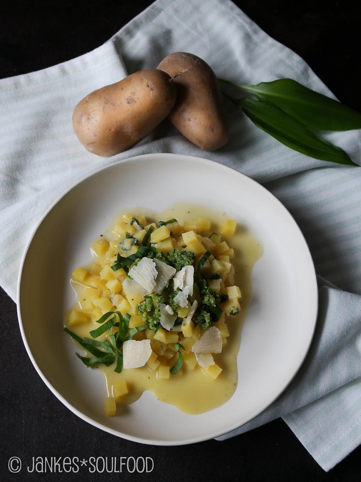 Kartoffel-Risotto mit frischem Bärlauch