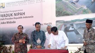 Jokowi resmikan Waduk Nipah Madura