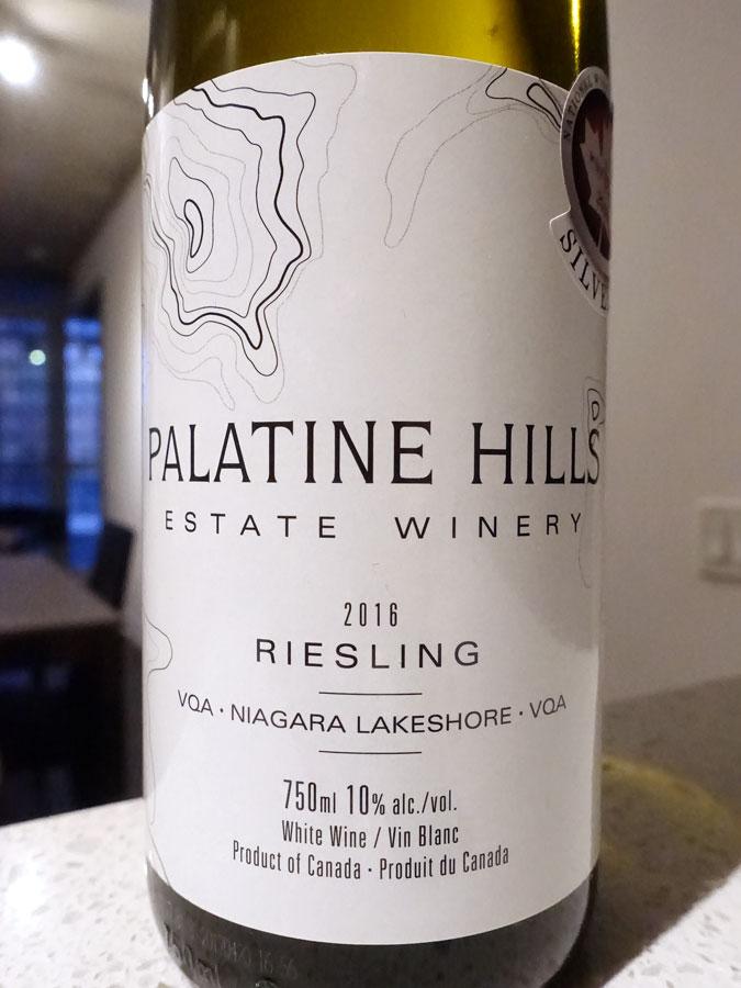Palatine Hills Riesling 2016 (89 pts)