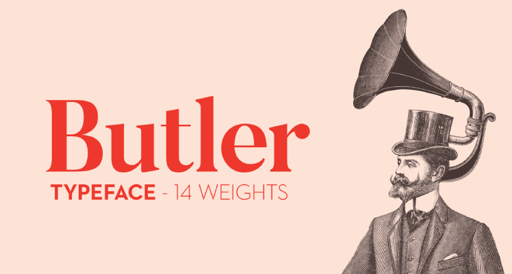 Butler free font preview