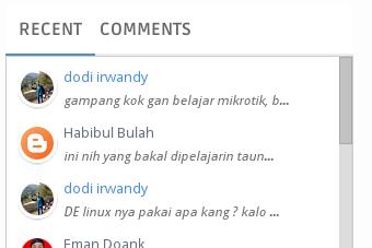 Cara Membuat Recent Comment Scroll di Blogspot