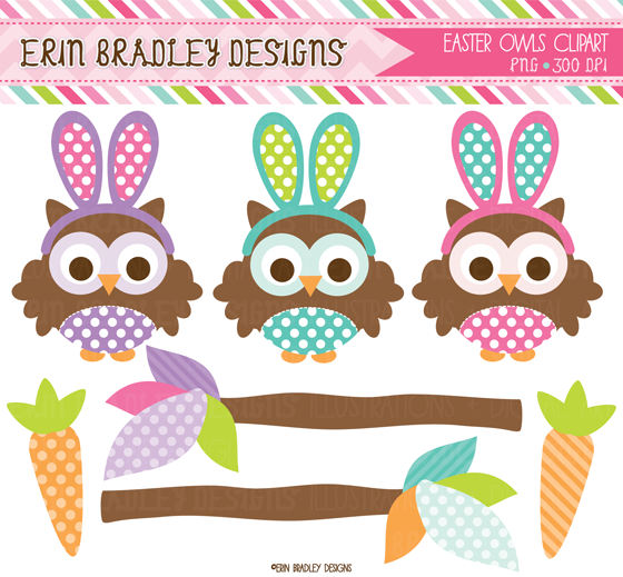 free easter owl clip art - photo #2