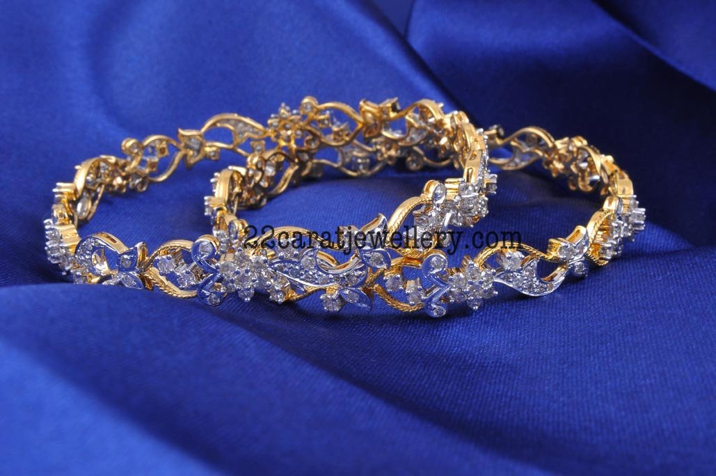 Diamond Bangles Gallery Jewellery Designs