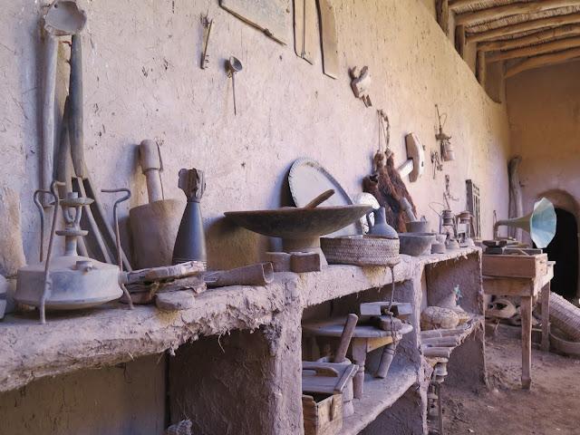 Aperos originales conservados en la Kasbah de Amridil