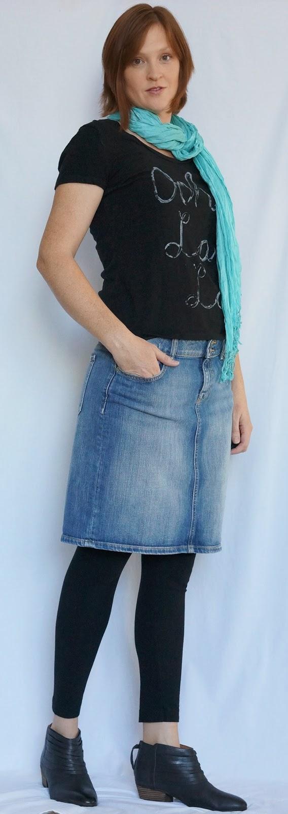 Denim Skirt Leggings 65