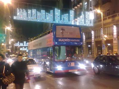 Navibús 2013 - 2014 en Madrid. El bus de la Navidad