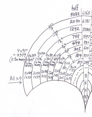 biomathcraft: Fibonacci Equations having the Number Nine.