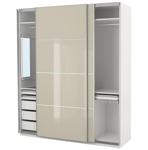 Desain lemari minimalis modern dengan pintu geser merupakan pilihan tepat untuk kamar yang memiliki ukuran kecil