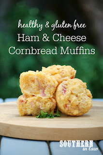 Savory Ham and Cheese Cornbread Muffins Recipe