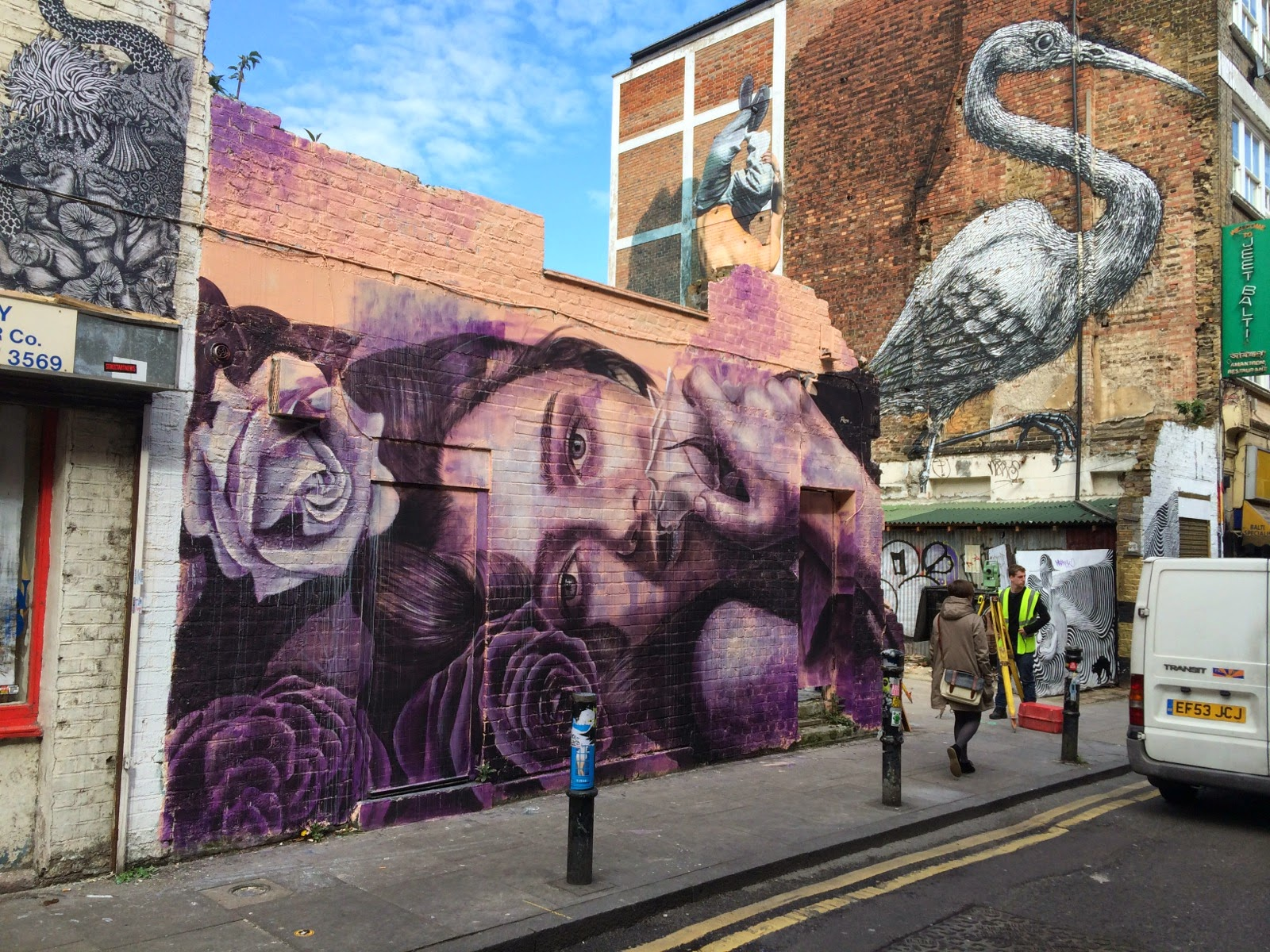 RONE is currently in London, UK where he just finished working on this new piece on the streets of East London, UK. 1