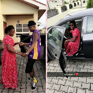 Photos: Lil Kesh buys his mum a new car 1