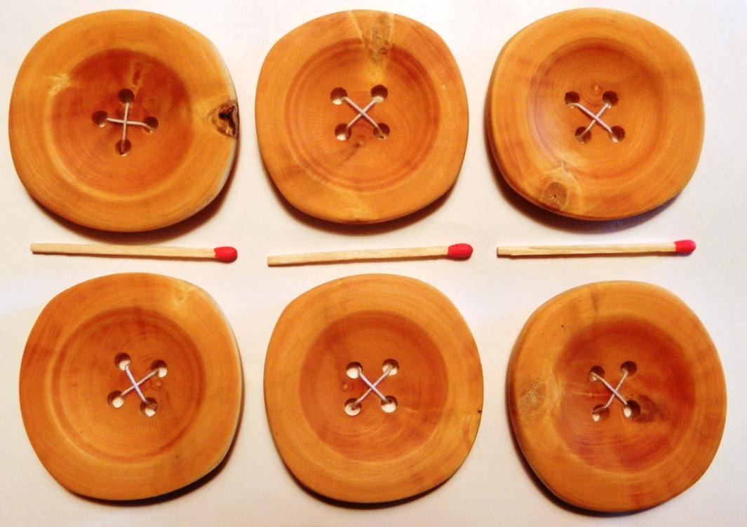 Wooden Buttons - Boutons en Bois