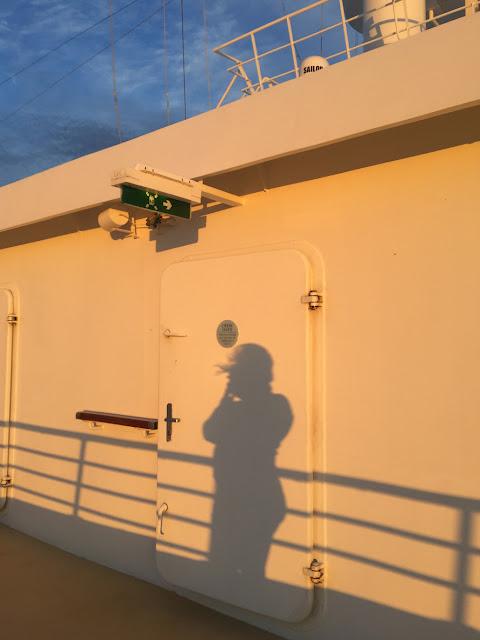 Golden Light Shadow Selfie