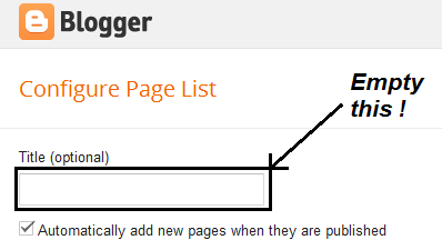 configure page list