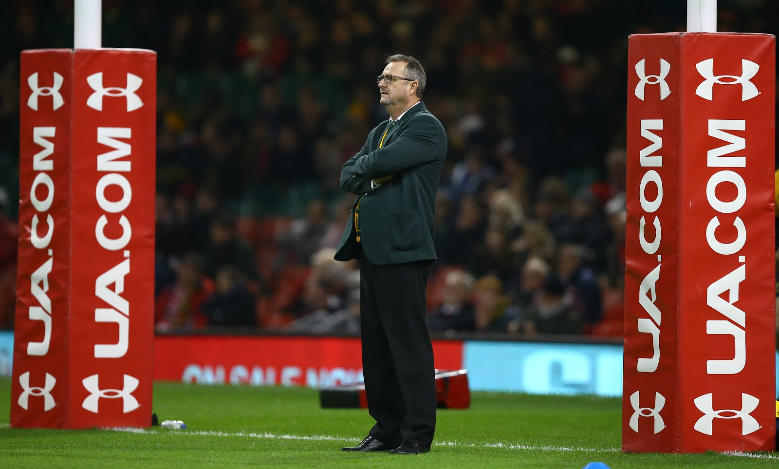 Swys de Bruin (consultant) and Emirates Lions head coach during the Castle Lager Outgoing Tour match between Wales and South Africa at Principality Stadium on November 24, 2018 in Cardiff, Wales