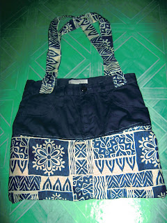 used clothes recycled to shopping bag