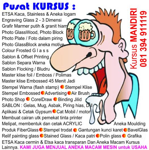 Sablon Gelas Kaos PIN Nama dada Payung HP
