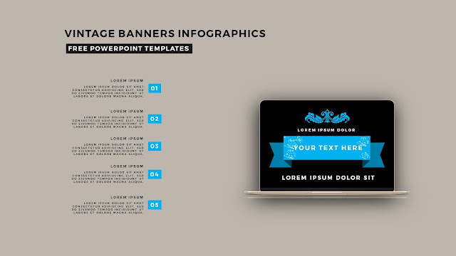 Vintage Banners Infographic Free PowerPoint Template Slide 6