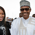Buhari Meets Naomi Campbell, Poses For Picture In Lagos - Pics
