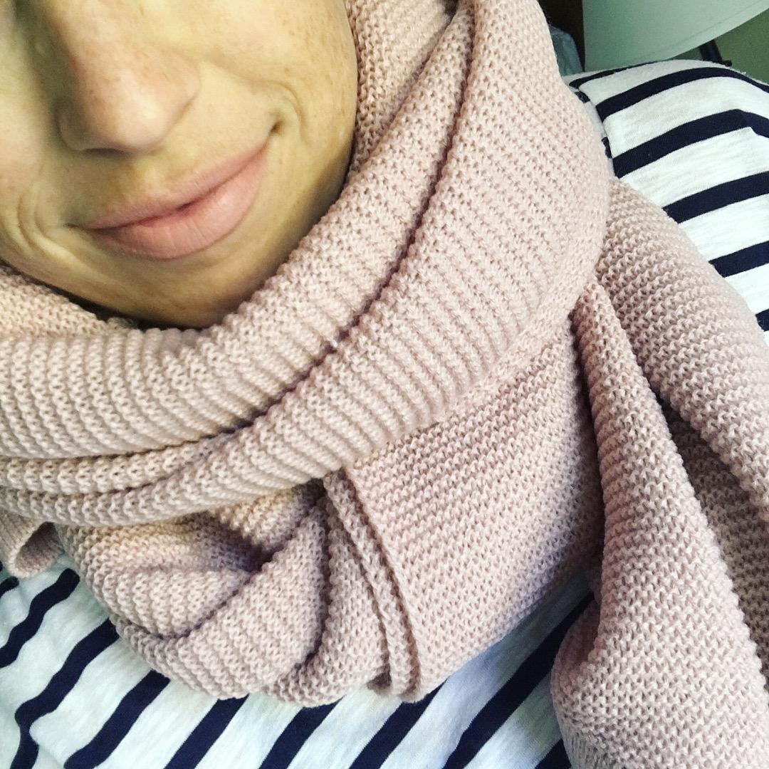 blush oversized scarf