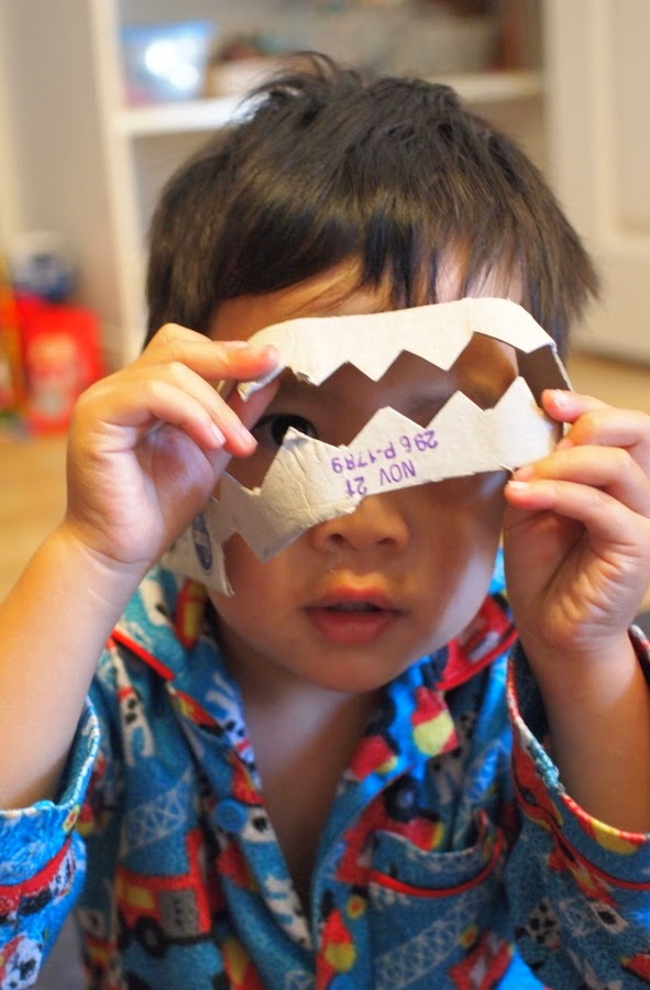 make egg carton teeth- kids craft