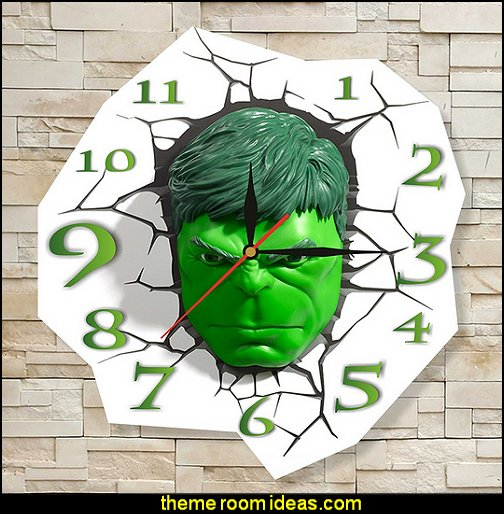 The Incredible Hulk clock
