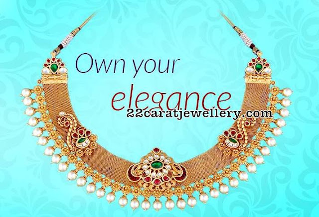 Broad Antique Choker by Vasundhara Diamond Roof