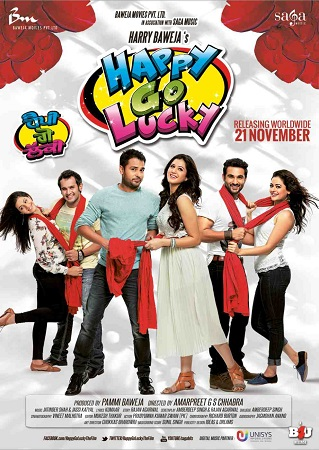 Poster Of Happy Go Lucky 2014 Punjabi 700MB DVDRip Free Download Watch Online