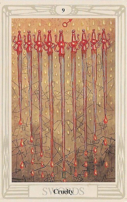 Tarot Notes A Journey Through My Tarot Decks The Magician: Tarot Notes: 9 Of Swords: Astrological Associations